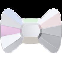 Swarovski Crystal Flat Back No Hotfix 2858 Bow Tie Flat Back (6.00x4.50mm) - Crystal Aurore Boreale (F) - 240 Pcs