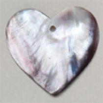 Purple Shell heart 35mm