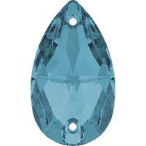 Swarovski Crystal Drop Sew On Stone 3230 MM 12,0X 7,0 AQUAMARINE F- 96 Pcs.