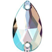 Swarovski Crystal Drop Sew On Stone 3230 MM 28,0X 17,0 CRYSTAL SHIMMER F-24 Pcs.