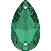 Swarovski Crystal Drop Sew On Stone 3230 MM 12,0X 7,0 EMERALD F- 96 Pcs.