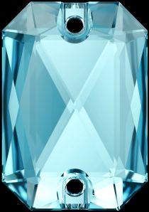 Swarovski Crystal 3252 Emerald Cut Sew On stone 20 x 14mm- Aquamarine (F)- 15 Pcs.