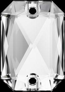 Swarovski Crystal 3252 Emerald Cut Sew On stone 20 x 14mm- Crystal (F)- 15 Pcs.