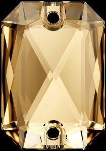 Swarovski Crystal 3252 Emerald Cut Sew On stone 28 x 20mm- Golden Shadow (F)- 10 Pcs.