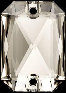 Swarovski Crystal 3252 Emerald Cut Sew On stone 20 x 14mm- Silver Shade (F)- 15 Pcs.