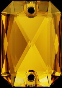 Swarovski Crystal 3252 Emerald Cut Sew On stone 20x 14mm- Sunflower (F)- 15 Pcs.