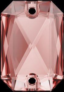 Swarovski Crystal 3252 Emerald Cut Sew On stone 20 x 14mm- Vintage Rose(F)- 15 Pcs.