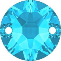 Swarovski Crystal Xirius Sew On Stone 3288 MM 10,0 AQUAMARINE F- 96 Pcs.