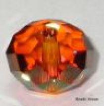 Swarovski  Rondel(5040) Beads -12mm -Crystal Copper