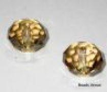 Swarovski  Rondel(5040) Beads -12mm -Crystal Golden Shadow