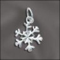 Sterling Silver Charm SNOWFLAKE 14X11MM