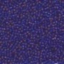 SEED BEAD 11/0 JAPANESE 20GM SILVER-LINED SQUARE HL DK. BLUE MATT 74(M)