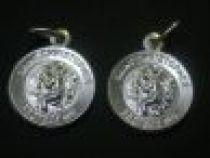 Sterling Silver MEDAL ST. CHRISTOPHER 11 mm