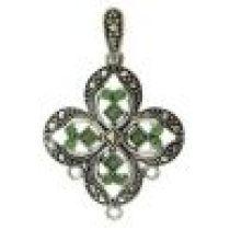 Victorian Pendant with Swarovski Crystals -ERINITE