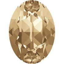 Swarovski Crystal Oval Fancy Stone4120 MM 6,0X 4,0 CRYSTAL GOL.SHADOW F