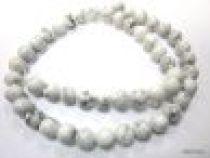 Howlite Natural White Round - 8mm Beads