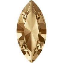 Swarovski Crystal Xillion Navette Fancy Stone4228 MM 8,0X 4,0 CRYSTAL GOLDEN SHADOW F