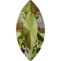 Swarovski Crystal Xillion Navette Fancy Stone4228 MM 8,0X 4,0 CRYSTAL LUMINOUS GREEN F