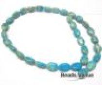 Impression Jasper Ovals- Turquoise 8 x 12 mm- 40 Cms. Long Strand