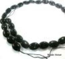 Black Onyx (Dyed) Plain Oval 10x 8mm-16