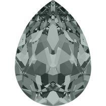 Swarovski Crystal Pear Fancy Stone4320 MM 18,0X 13,0 BLACK DIAMOND F