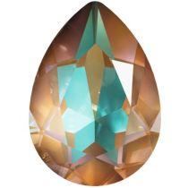 Swarovski Crystal Pear Fancy Stone4320 MM 14,0X 10,0 CRYSTAL CAPPUCCINO DELITE