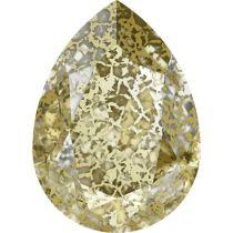 Swarovski Crystal Pear Fancy Stone4320 MM 14,0X 10,0 CRYSTAL GOLD-PATINA F