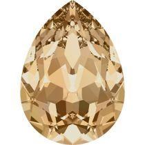 Swarovski Crystal Pear Fancy Stone4320 MM 14,0X 10,0 CRYSTAL GOLDEN SHADOW F