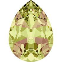 Swarovski Crystal Pear Fancy Stone4320 MM 14,0X 10,0 CRYSTAL LUMINGREEN F