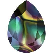 Swarovski Crystal Pear Fancy Stone4320 MM 14,0X 10,0 CRYSTAL RAINBOW DARK F