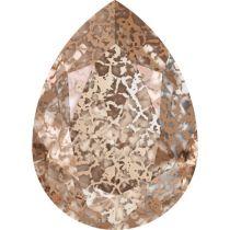Swarovski Crystal Pear Fancy Stone4320 MM 14,0X 10,0 CRYSTAL ROSE-PATINA F