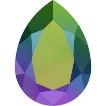 Swarovski Crystal Pear Fancy Stone4320 MM 14,0X 10,0 CRYSTAL SCARABAEUS GREEN F
