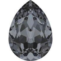Swarovski Crystal Pear Fancy Stone4320 MM 8,0X 6,0 CRYSTAL SILVER NIGHT F
