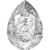 Swarovski Crystal Pear Fancy Stone4320 MM 8,0X 6,0 CRYSTAL SILVER-PATINA F