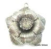 Metal Flower Pendant  47mm