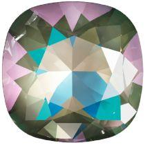 Swarovski Crystal Fancy Stone Cushion Square 4470 MM 12,0 CRYSTAL ARMY GREEN DELITE