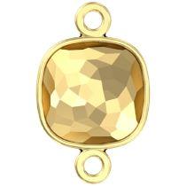 Swarovski Crystal 4483/J Fantasy Cushion FS Finding Gold/P Two Loops -10 MM