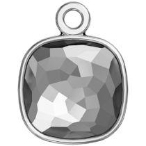 Swarovski Crystal 4483/J Fantasy Cushion FS Finding Rhodium/P One Loop -14 MM-24 Pcs.