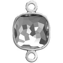 Swarovski Crystal 4483/J Fantasy Cushion FS Finding Rhodium/P Two Loops -12 MM-48 pcs.