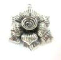 Metal Flower Pendant 49 x 44 mm