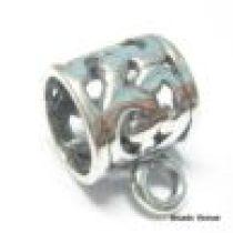 Sterling Silver Tube Pendant -10mm