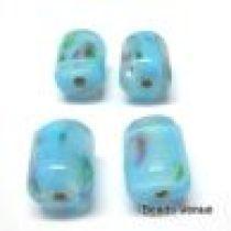 Lampwork Glass Beads -Tubes-Aqua- 10x8m