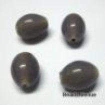 Glass Oval Beads- 11X9MM-Lt. Purple (Transluscent)