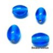 Glass Oval Beads- 11X9MM-Dk. Blue(Trans)