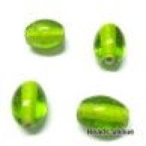 Glass Oval Beads- 11X9MM-Peridot(Trans)