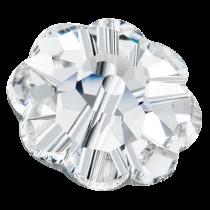 Preciosa®  MC Loch Flower Beads Crystal(Silver Foil)