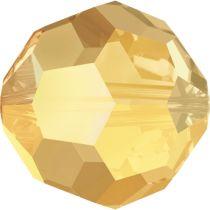 Swarovski Crystal 5000 Round Bead - 8mm- Metallic Sunshine