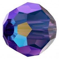 Swarovski Crystal 5000 Round Bead -8mm- Amethyst Shimmer