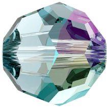Swarovski Crystal 5000 Round -8mm- Aquamarine Shimmer