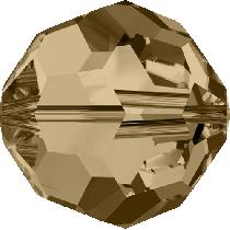 Swarovski Round (5000) -10mm -Golden Shadow